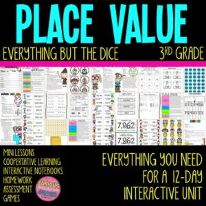 Place Value Math Unit for 3rd Grade