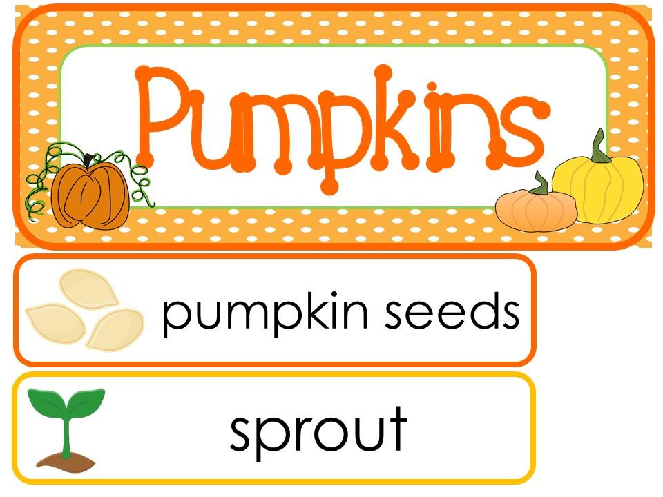 Pumpkins Classroom Word Wall Bulletin Board Set