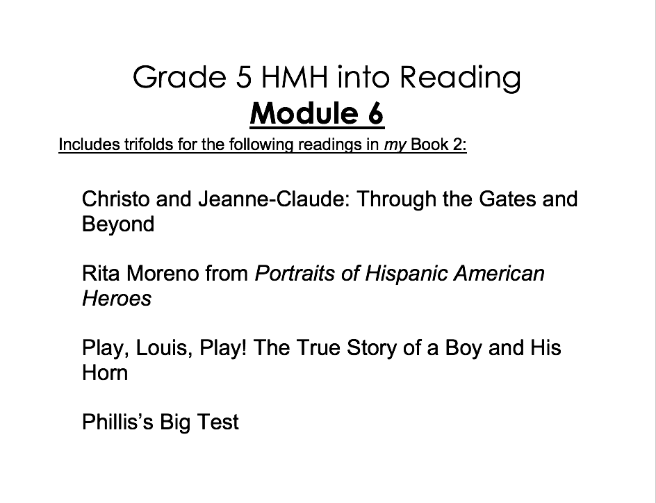 5th Grade HMH into Reading Activity Pack - Module