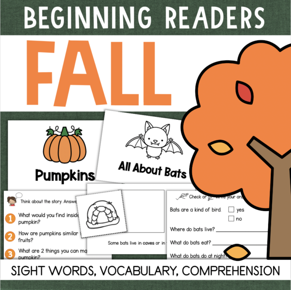 FALL Decodable Readers Vocabulary