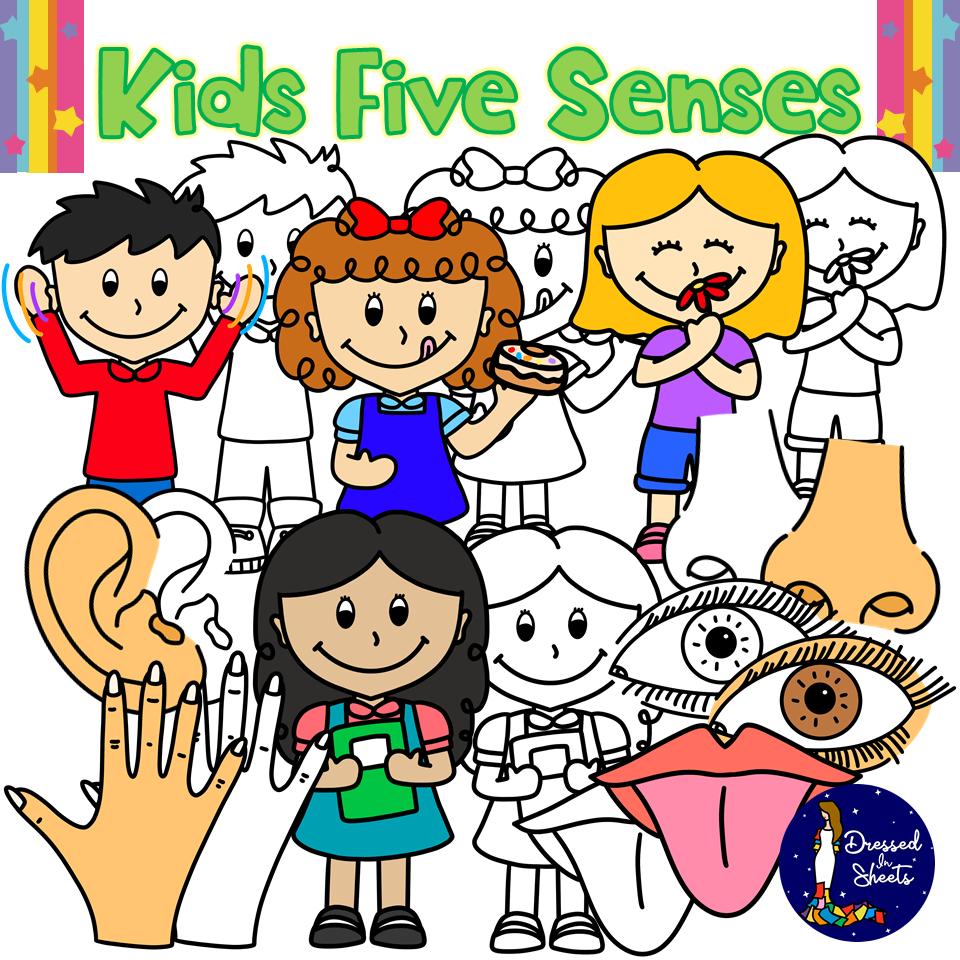 Kids Five Senses Clip Art