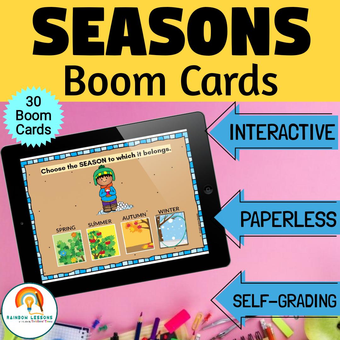 Four Seasons Activities | 4 Seasons Boom Cards
