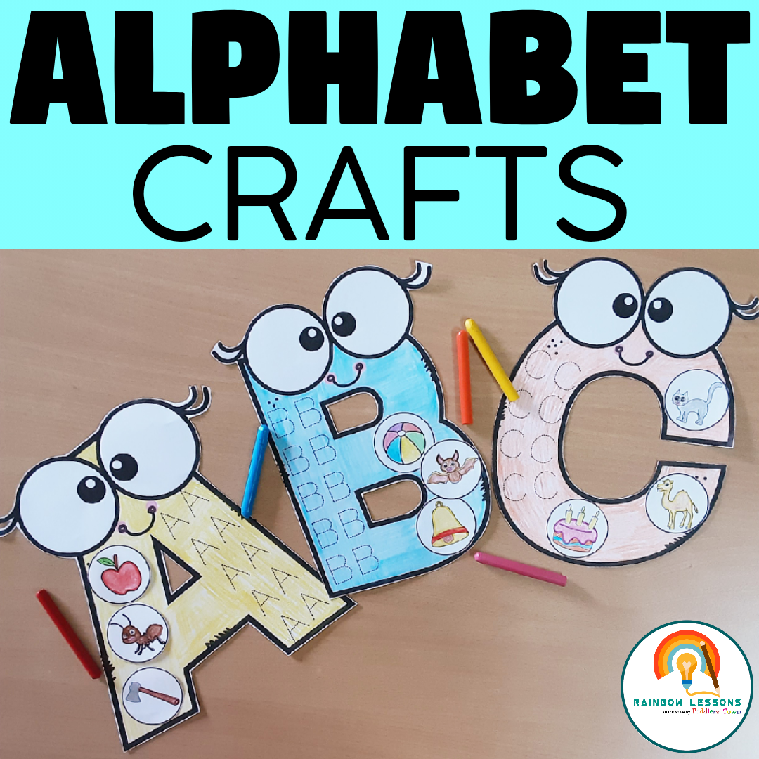 Alphabet Crafts   Alphabet Tracing and Coloring