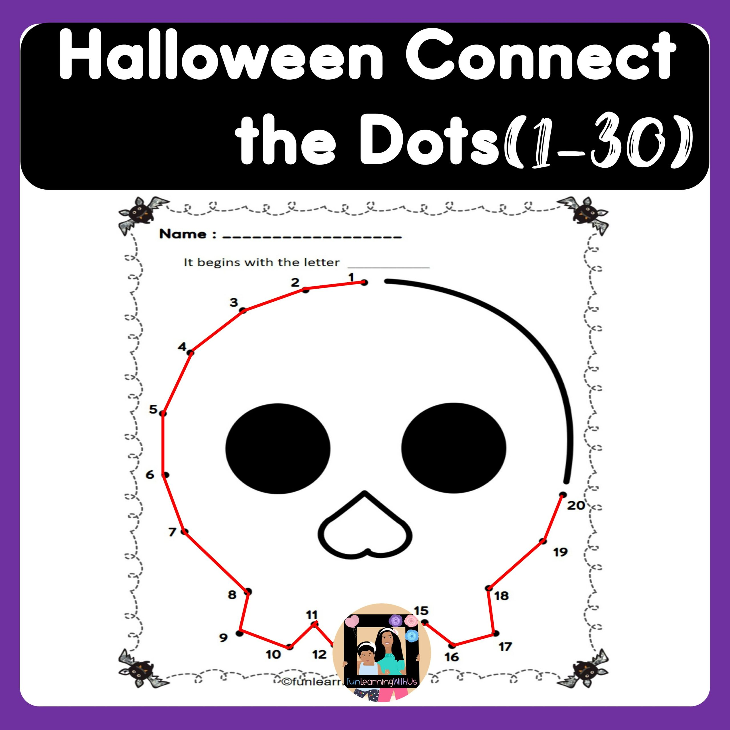 Halloween Connect the Dots  Dot to Dot worksheets
