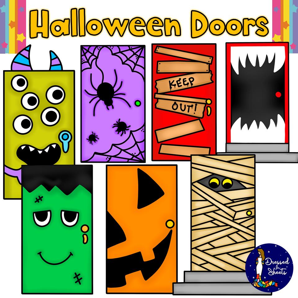 Halloween Doors Clip Art