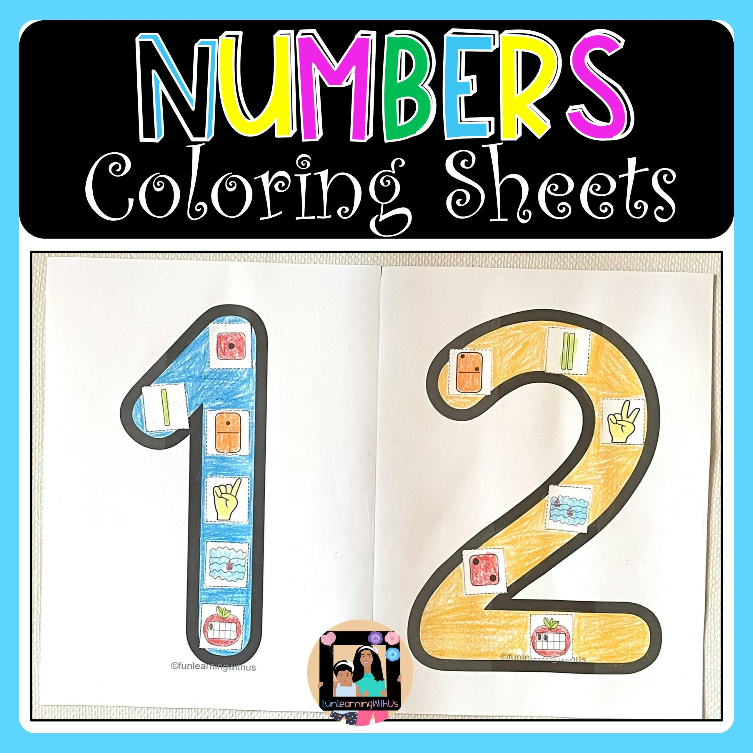 Numbers Coloring Activity Subitizing Number 1-10