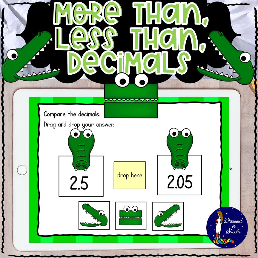Comparing Decimals BOOM Cards