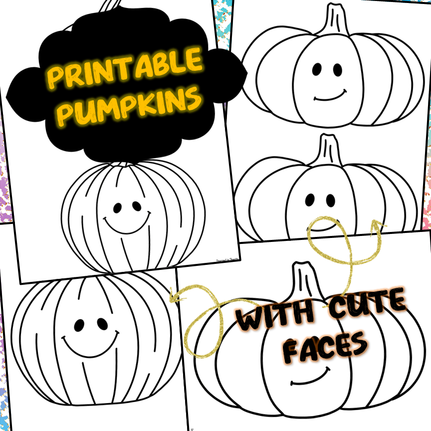 Printable Pumpkins With Lines and Without Lines