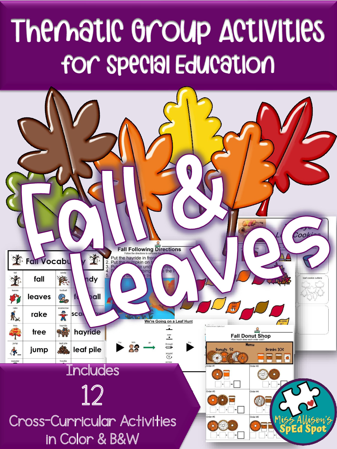 Fall & Leaves Thematic Unit for Special Ed