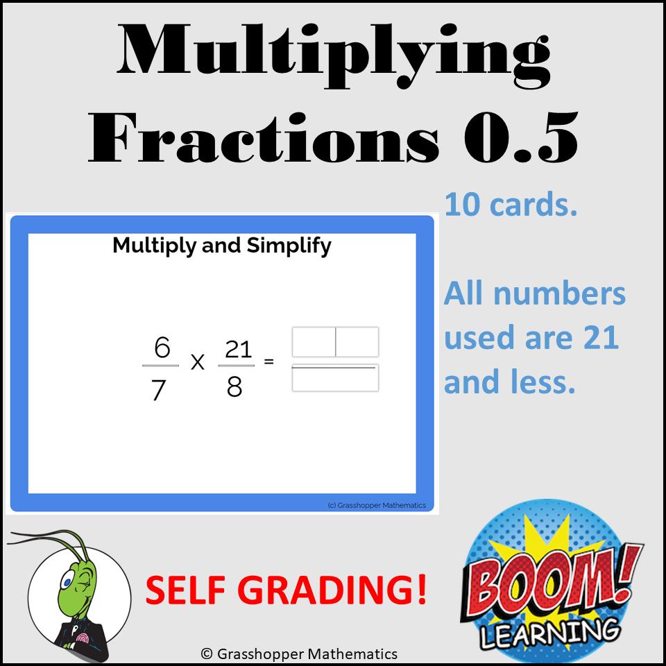 Multiplying Fractions Set 0.5