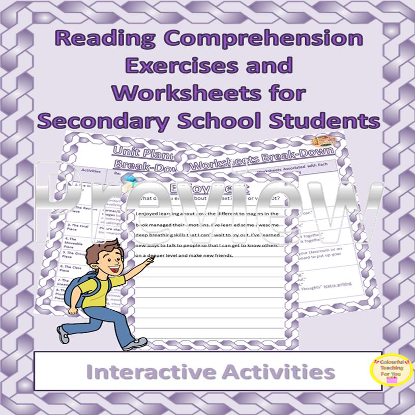 Reading Comprehension Worksheets for Grades 8-11
