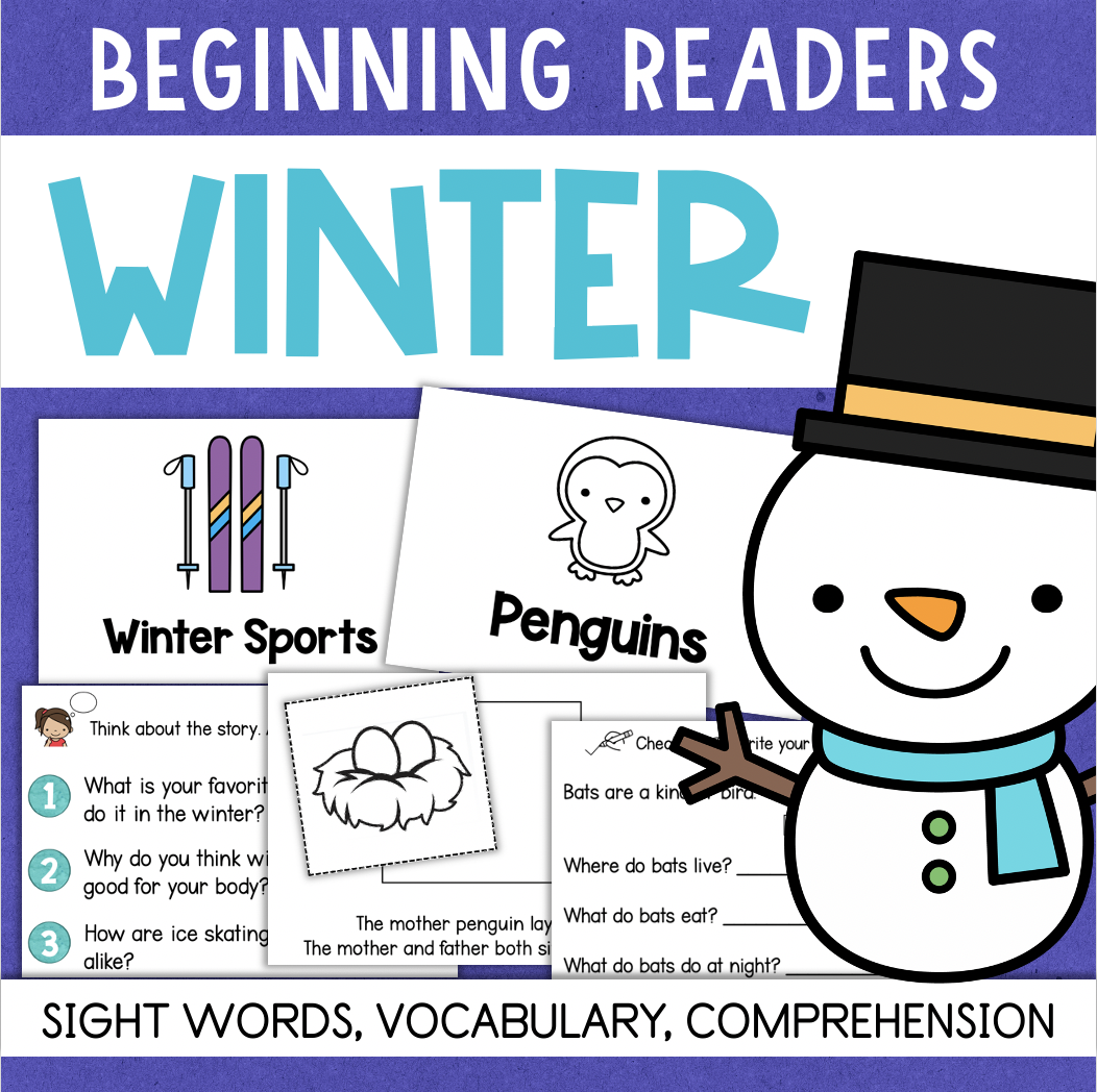WINTER Beginning Reading Comprehension Books