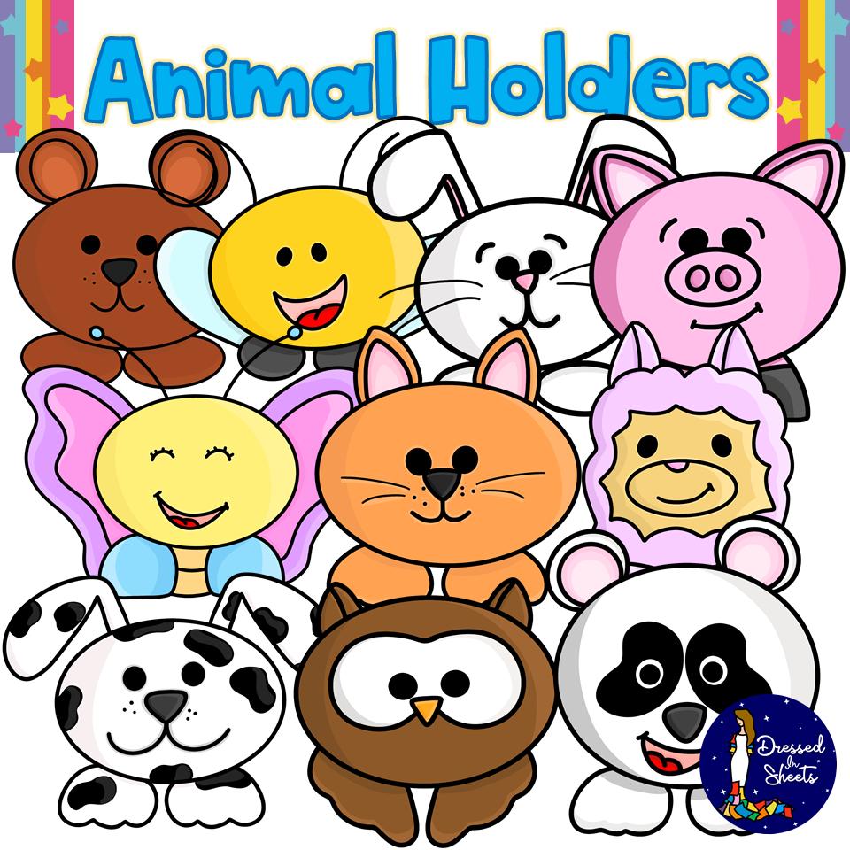 Animal Holders Clip Art BUNDLE