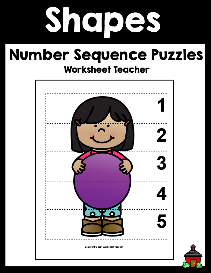 10 Shapes Number Sequence Picture Puzzles