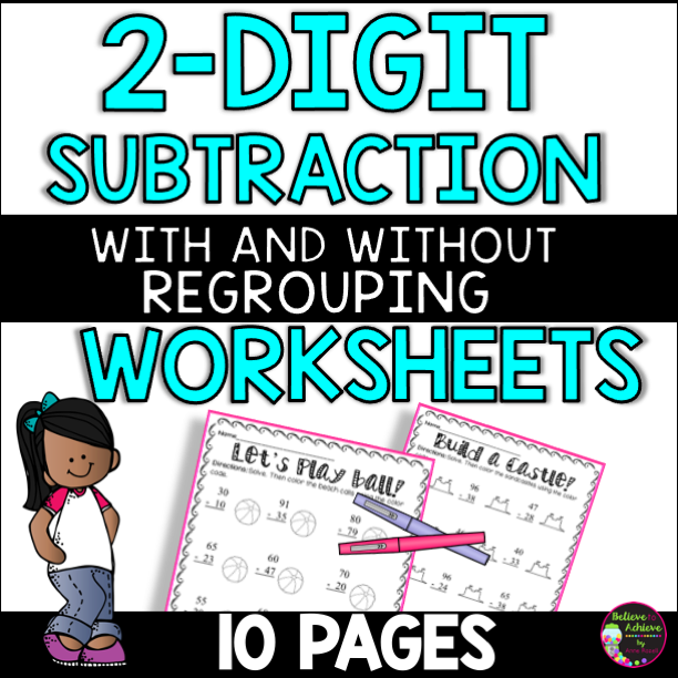 2-Digit Subtraction With and Without Regrouping