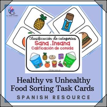 SPANISH VERSION Healthy & Unhealthy Food Sorting