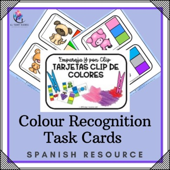 SPANISH VERSION - Colour Recognition Task Cards