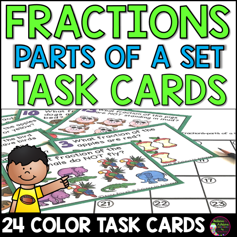 Fractions as Part of a Set Task Cards