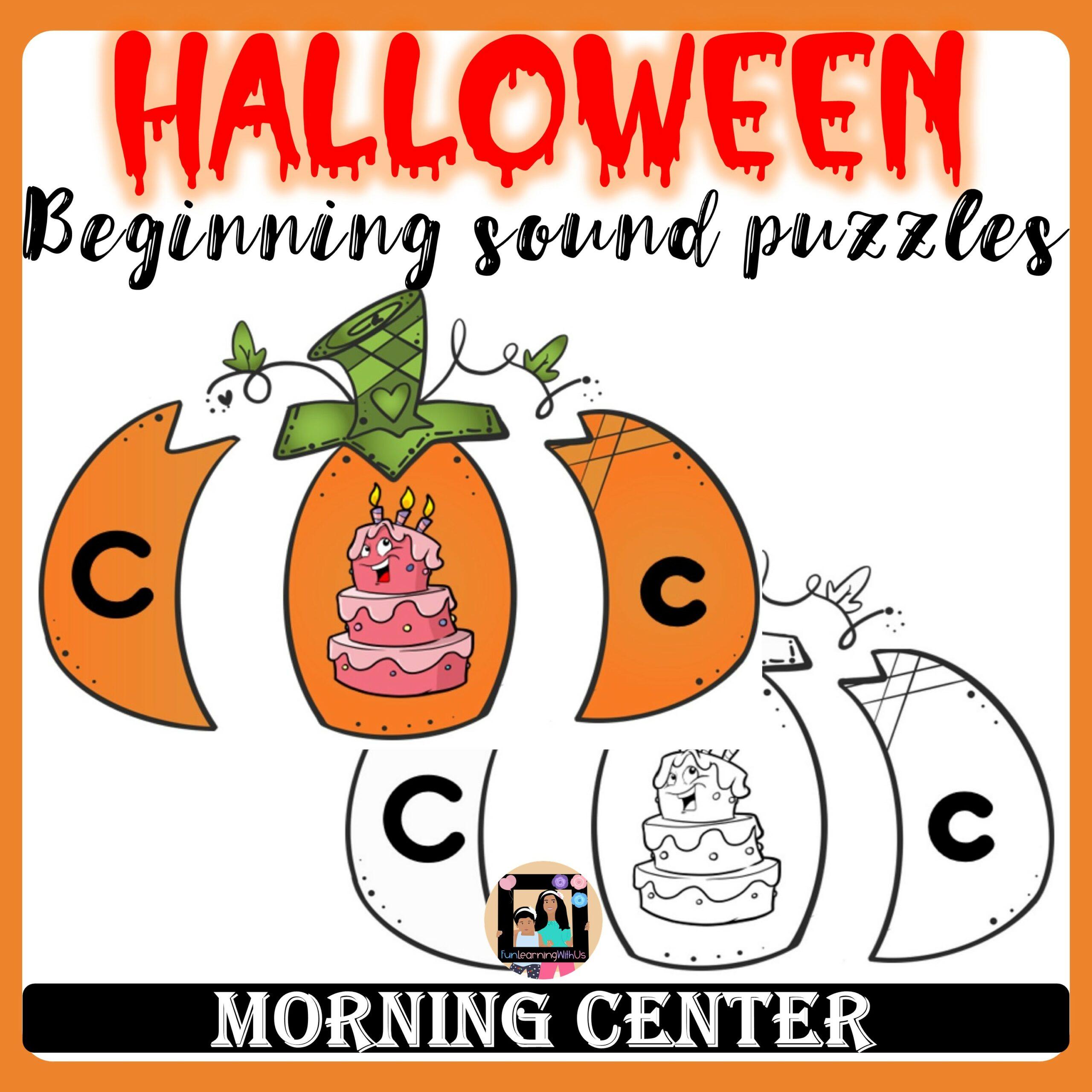 Build a Pumpkin Alphabet Beginning Sound Match