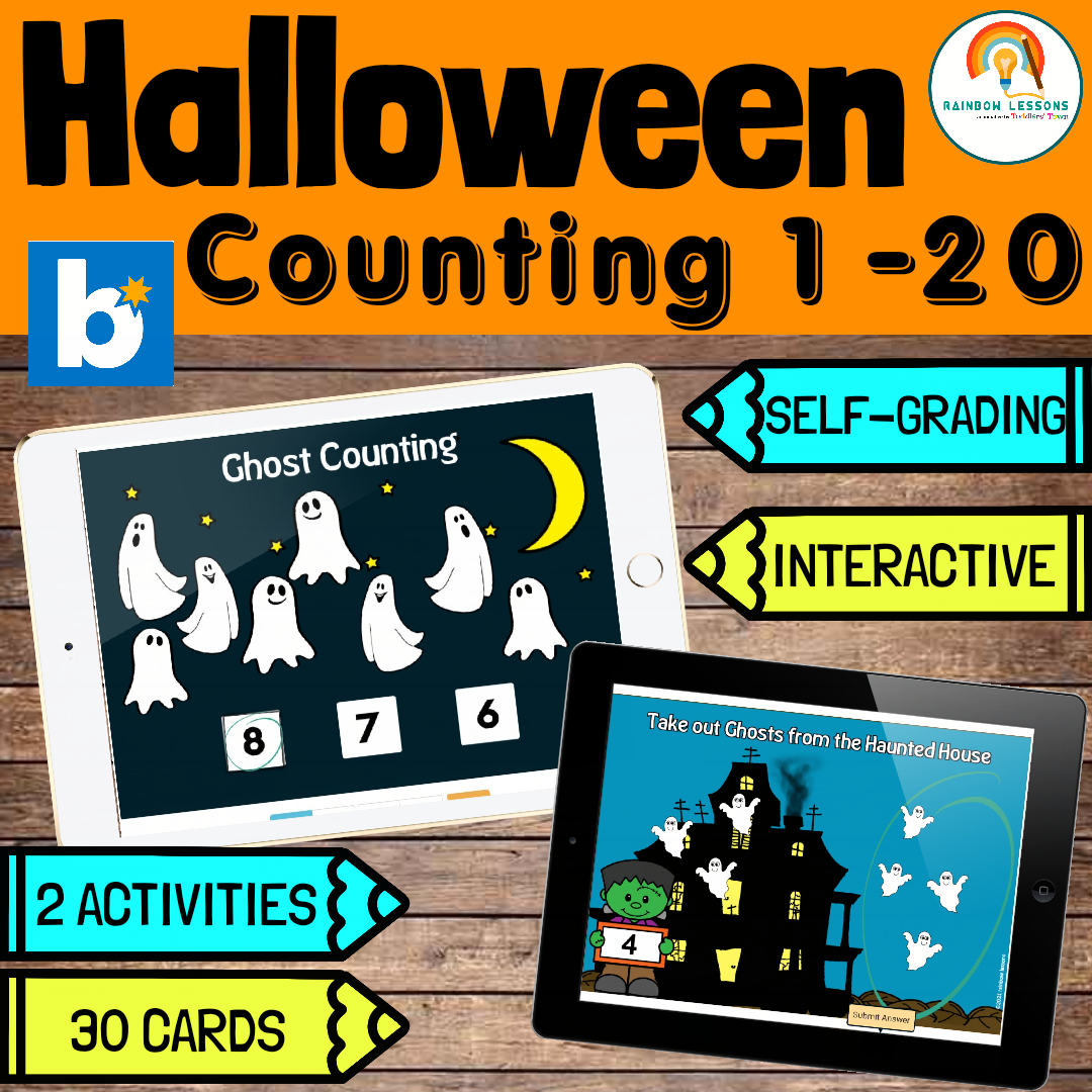 Halloween Numbers 1-20 Boom Cards | Counting 1-20