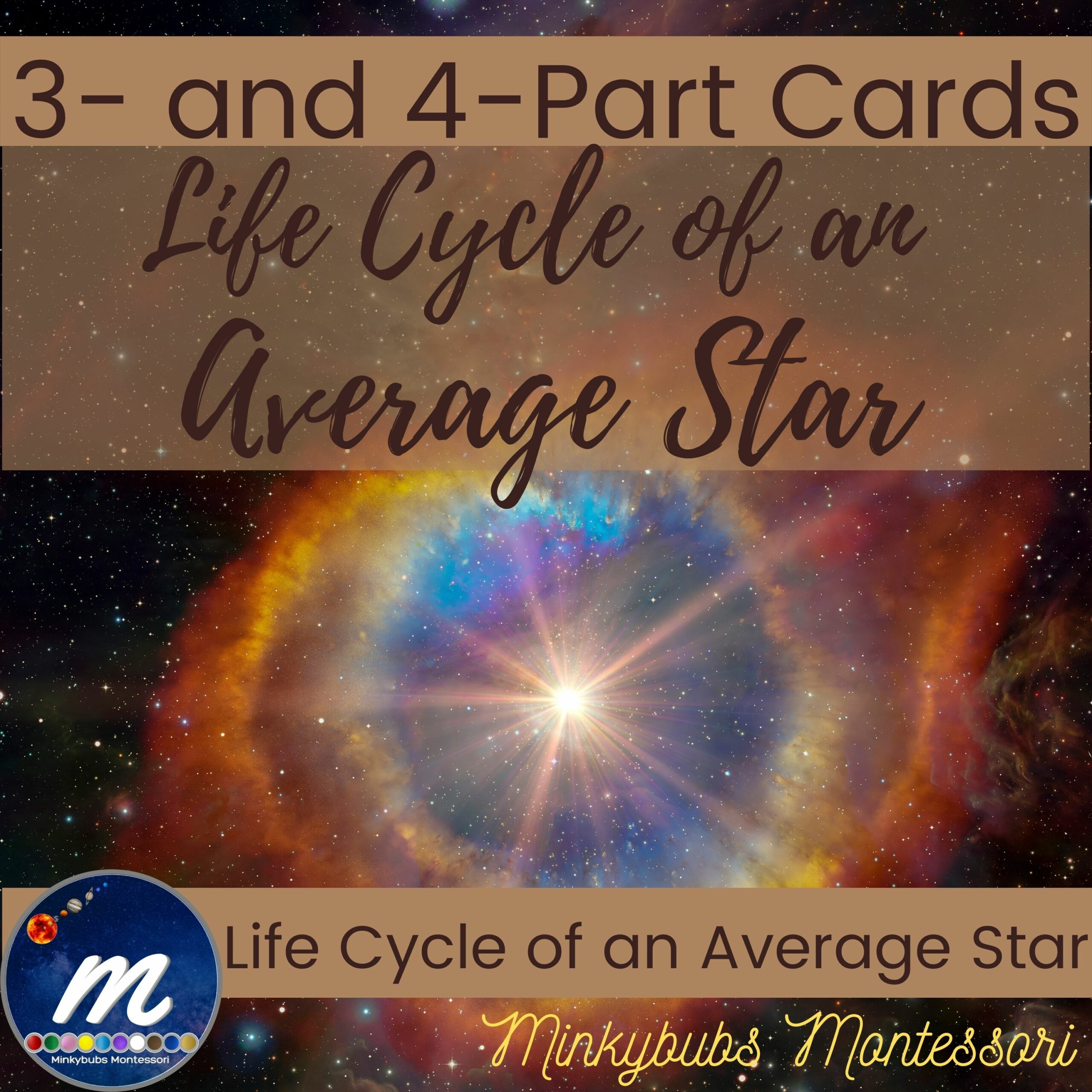 Life Cycle of an Average Star 3 and 4 part cards