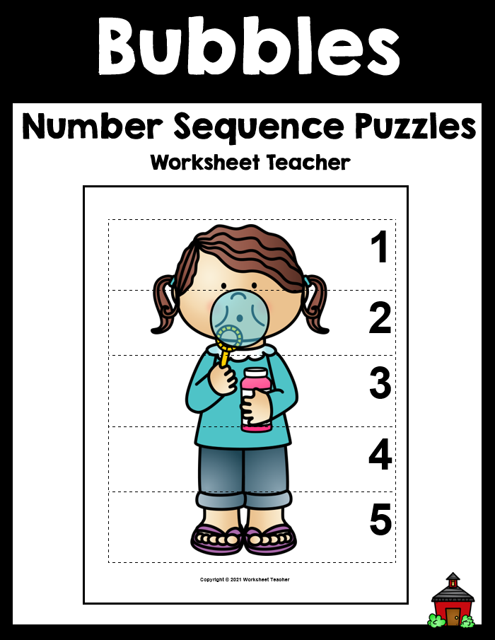 Bubbles Number Sequence Preschool Picture Puzzles