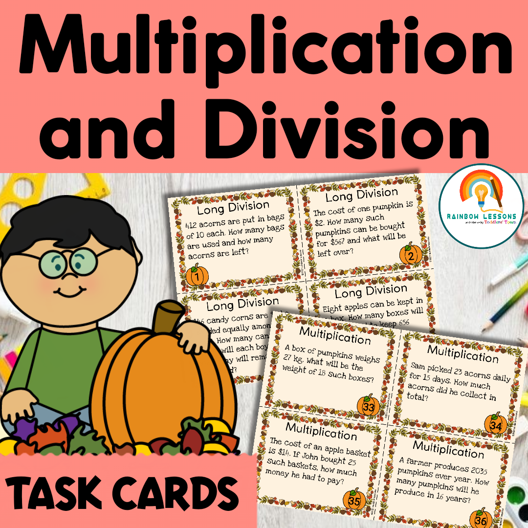 Fall Math Activities   Multiplication and Division