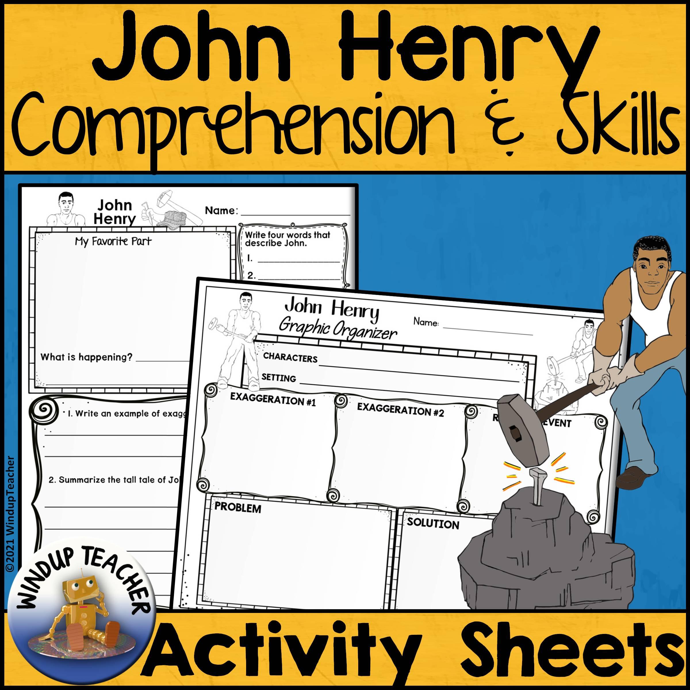 John Henry Activity Sheets | Print and Go!