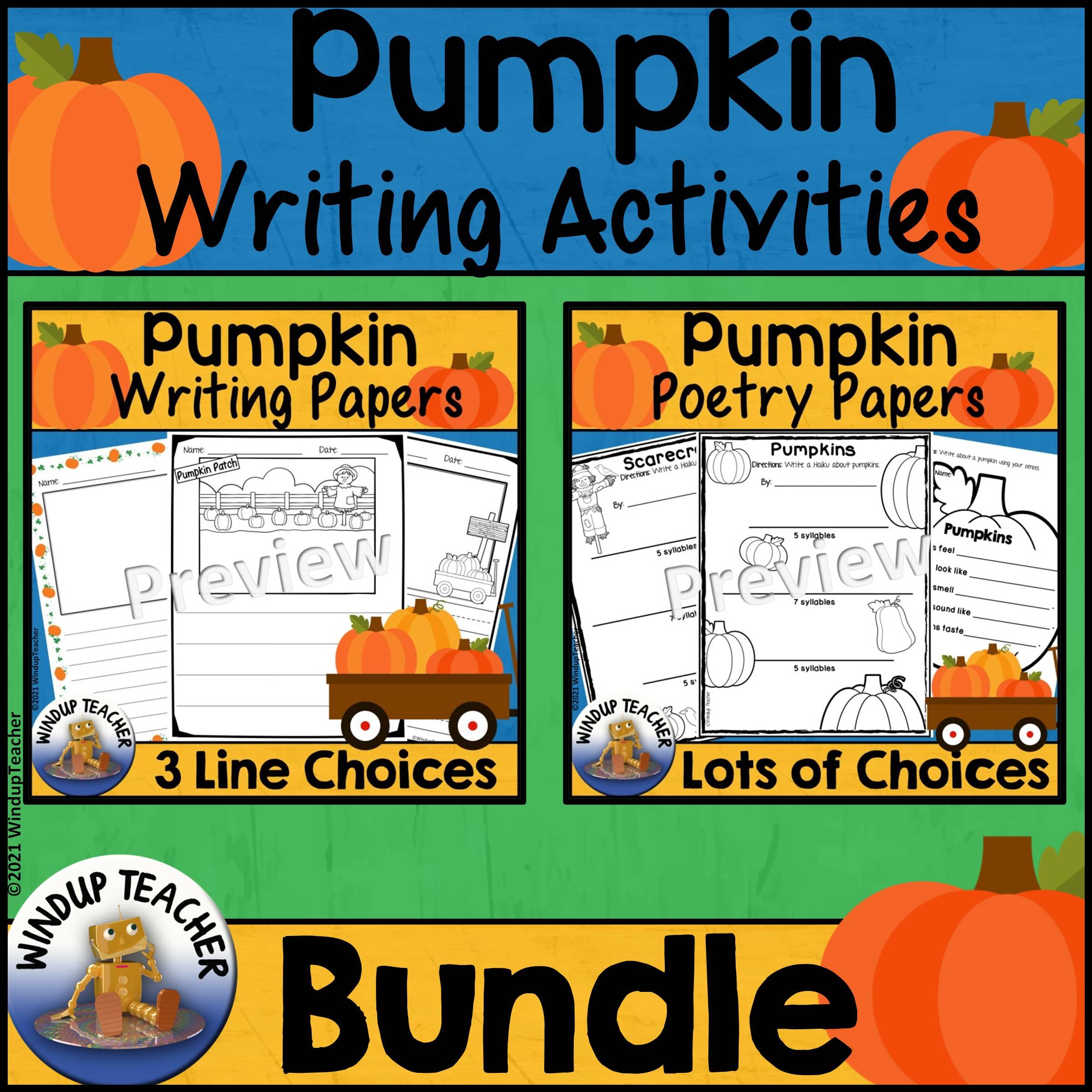 Pumpkin Writing BUNDLE - Great for Literacy Center