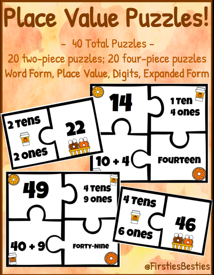 Place Value Puzzles! Pumpkin Fall Edition