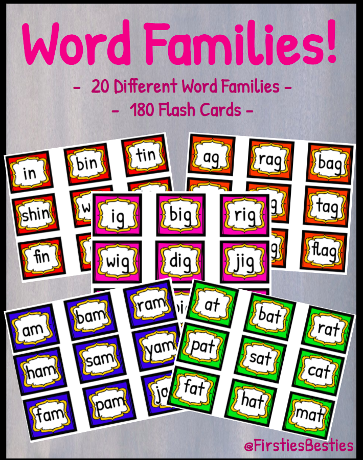 Word Family Flashcards!