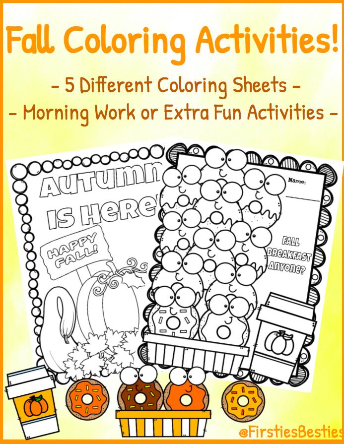 Fall Pumpkin Coloring Activities! Donuts & Coffee