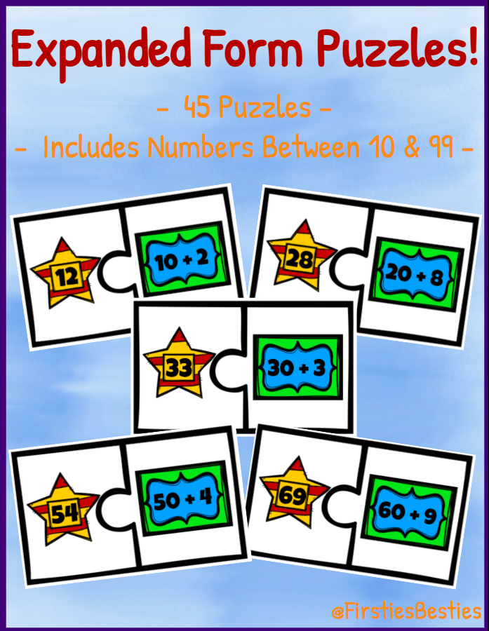 Expanded Form Puzzle Match! Place Value Game