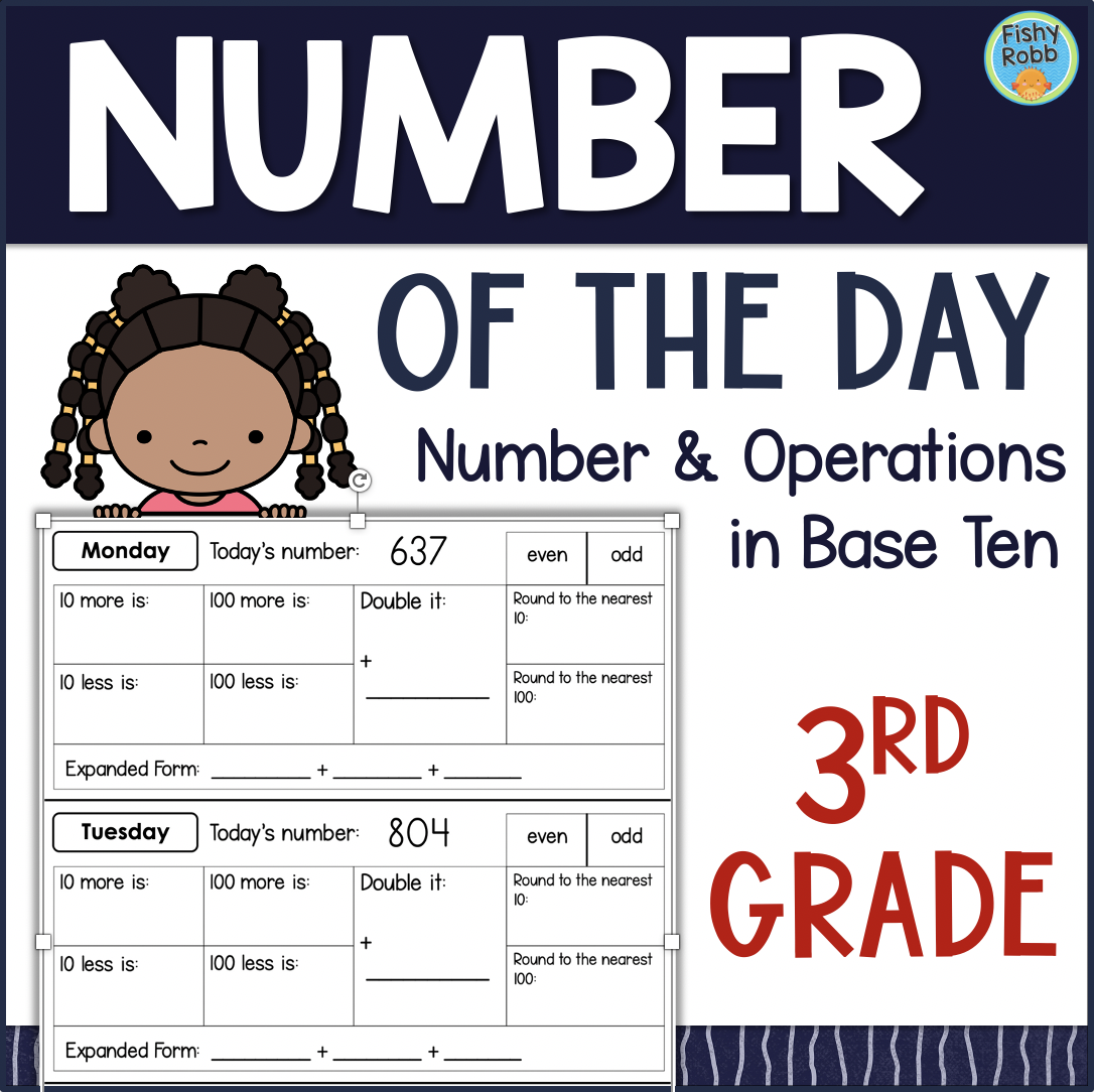 NUMBER OF THE DAY Grade 3 MATH