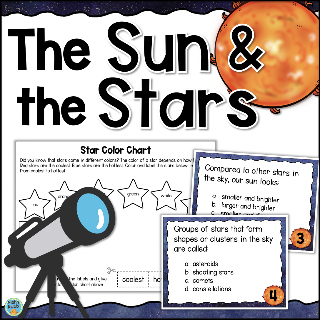 The Sun and Stars Science Activities Task Cards