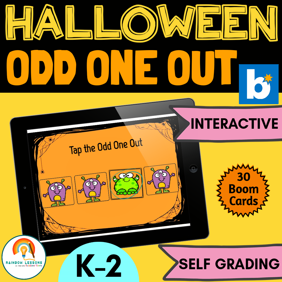 Halloween Odd One Out Boom Cards