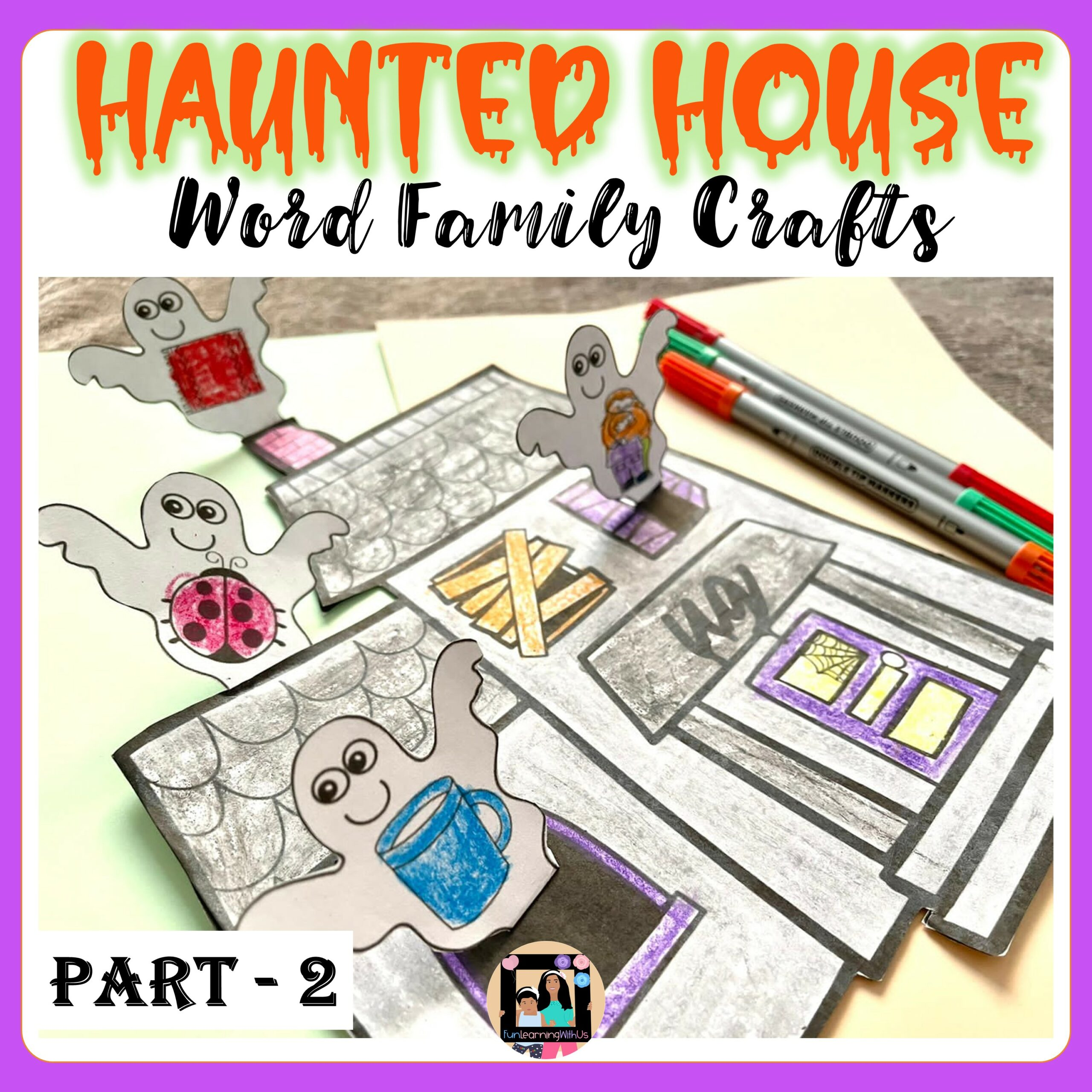 Haunted House Craft | Halloween Word Family Craft